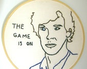 Sherlock BBC Embroidery Hoop Art The Game is On