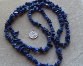 Strand of Small to Medium Dyed Lapis Lazuli Chips (424)