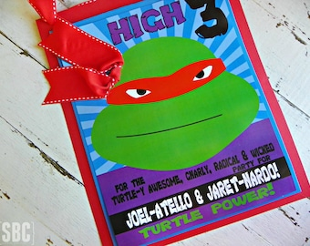 TMNT Door Sign...Set of 1 Personalized Door Sign