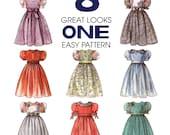 Girls Dress Sewing Pattern - McCalls 8156 - Size 3 to 10 - Uncut, FF