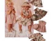 Toddler Dress Sewing Pattern - McCalls 8191 - Girls Dress and Hat Pattern - Uncut, FF