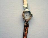 Ladies Mini Hamilton Wristwatch - 10K gold - Working.