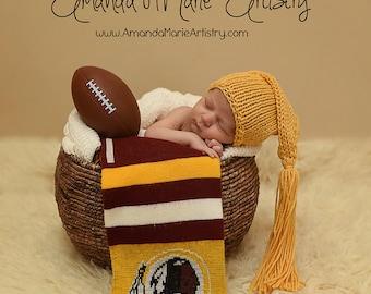 Pixie hat with tassle - newborn photo shoot prop - hand knit - cornsilk yellow - other colours - baby boy girl