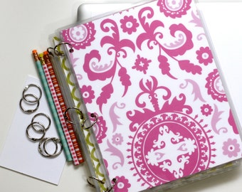 Planner Cover, 9 x 11, Suzani Pink