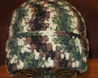 Camo rollup hat Man's