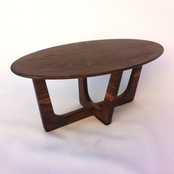 Mid Century Modern Oval Coffee Table 20x40 Adrian Pearsall Inspired
