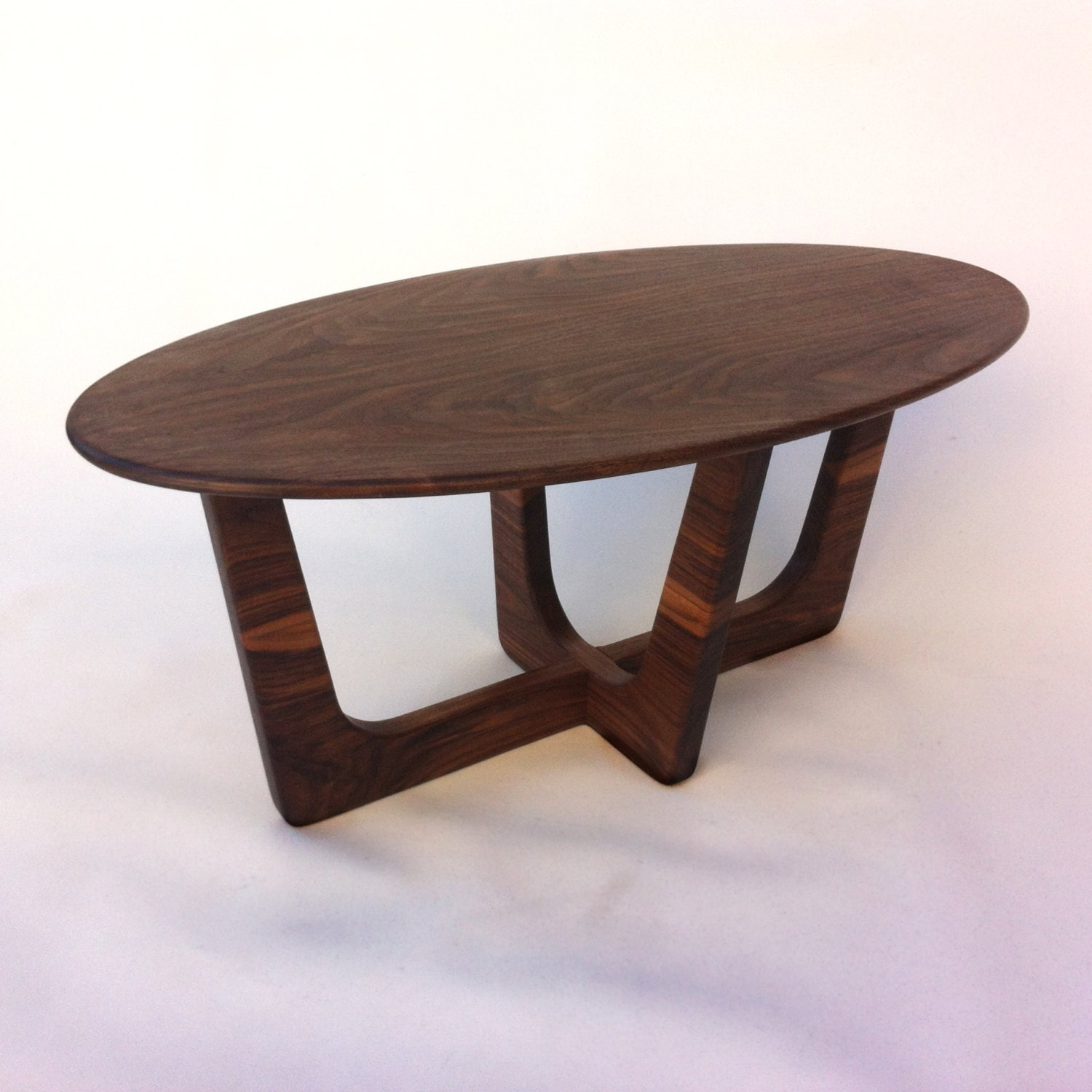 Mid century modern oval coffee table 20x40 adrian pearsall for Contemporary oval coffee tables