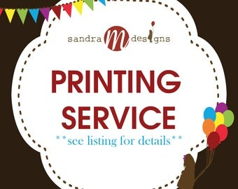 Printing Service for 5x7 Flat Cards (included envelopes)