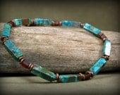 Turquoise Bracelet, Mens Bracelet, Bracelet for Men, Men's Jewelry, Mens Beaded Bracelet, Jewelry for Men,  Stack Bracelet, Native American