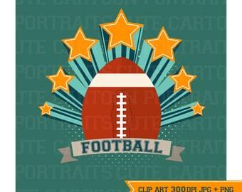 Instant Download - Football - Digital Clip Art Collage Sheet