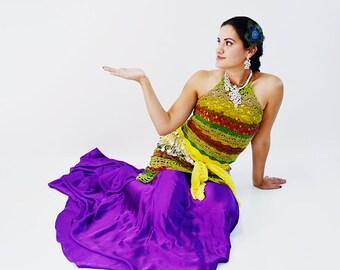 Bird of Paradise Halter & Skirt Crochet Pattern - Sizes XS - 5X