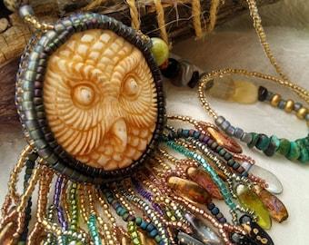 Owl Necklace - Nature Spirit, Talisman, Healing, Animal Medicine