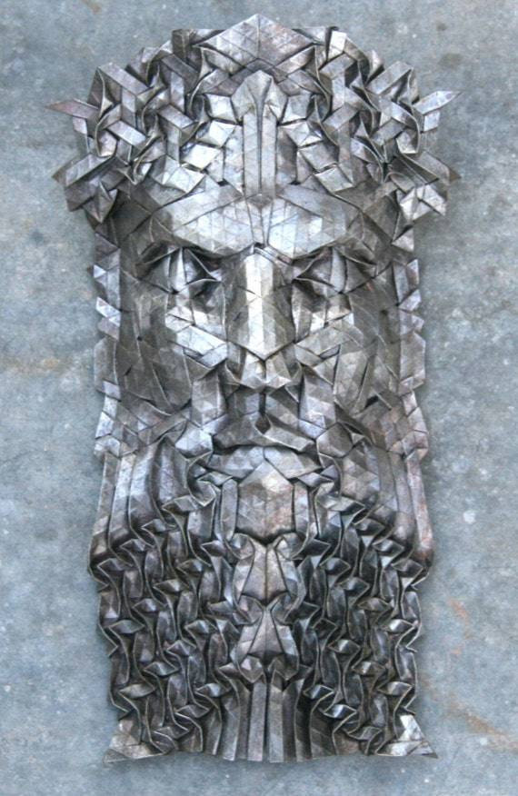 Нептун - оригами скульптура