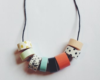 Beaded Necklace - Patterns and Pastels