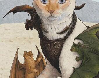Modern Cross Stitch Kit Catleesi Mother Of Cat Dragons , Jenny Parks - Daenerys Targaryen Needlecraft Kit, Cat Fan Art,  Dragon cross stitch