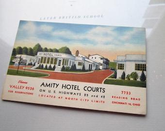 Vintage Amity Hotel Postcard * Vintage Postcards * Ohio