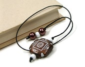 Book Thong Beaded Bookmark Chocolate Brown Book Cord String Bookmark Gift under 5 Book Club Teacher Gift
