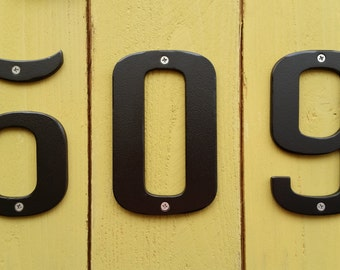 "NEW - Individual METAL House Numbers - Black Powder Coated - 6"" tall"