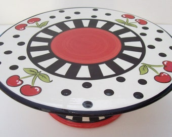 Cake Stand Cheerful Cherry- Ready to Ship