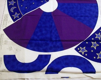 Wizard Costume, Childs Wizard Cape, Wizard Cape with Stars and Moon, VIP Cranston Print Works Cape to Make, Cape Fabric Panel