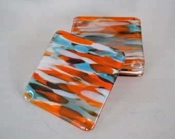 Painted Desert Fused Glass Coasters