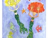 Mermaid, Mermaid Card