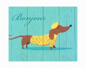 French Pooch Art Print
