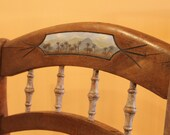 Hand painted Furniture Antique Side Chair