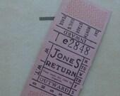 Gorgeous Vintage Antique Pink Admittance Tickets Lot