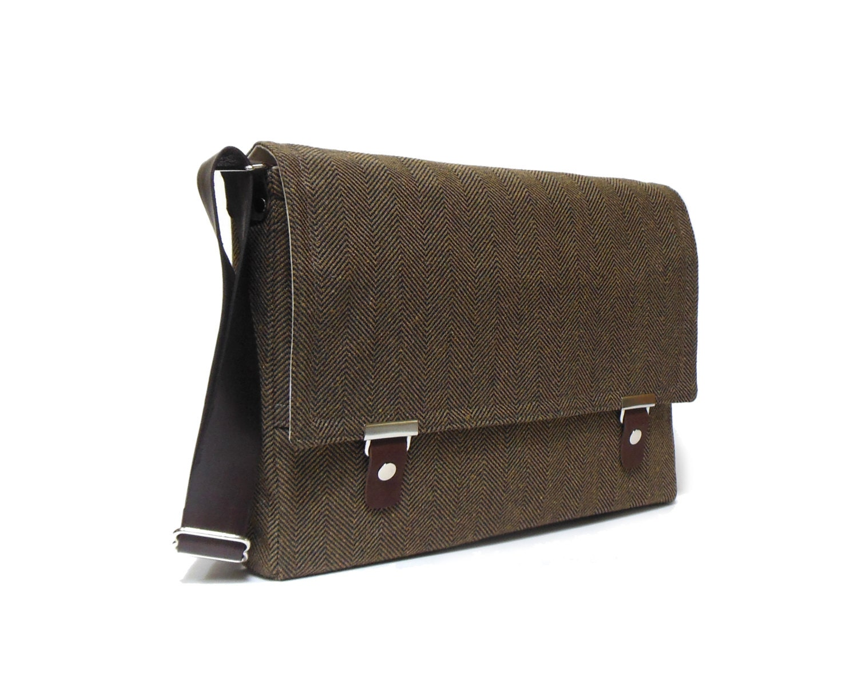 11 13 macbook air messenger bag brown and black by