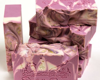 Black Raspberry Vanilla Handmade Soap Bar