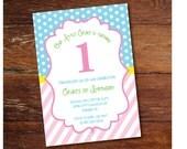 1st Birthday party invitation (custom), printable file