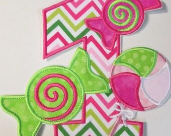 Iron On Applique -Candy Land Birthday