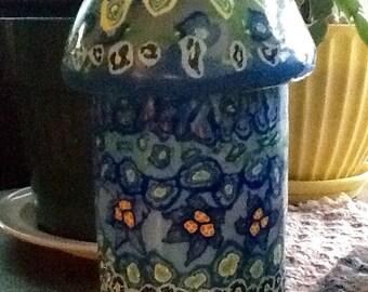 Decoritive Blue Glow Jar