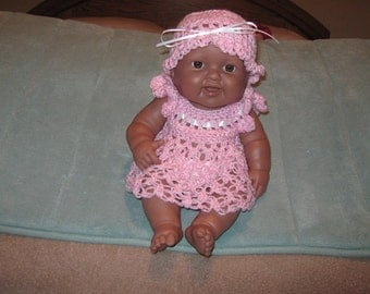 Crochet Doll Dress and Hat