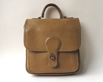 vintage Hunt Club Distressed Caramel Brown Leather Station Bag