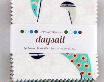 FALL SALE - Daysail - Mini Charm Pack - 55100MP - by Bonnie and Camille for Moda Fabrics