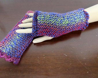 Fingerless Gloves in Red, Blue, Brown, Green and Pink - Ready To Ship
