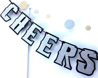 60th Birthday Banner, CHEERS to 60 YEARS, 60th Anniversary,  Cheers to 50 Years, 50th Birthday, 50th Anniversary, 40th Birthday, Custom