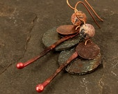 Tribal Jewelry, Tribal Earrings, Hammered Jewelry