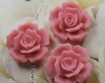 27mm - Pink Rose Cabochon - 4 pcs (CA835-E)