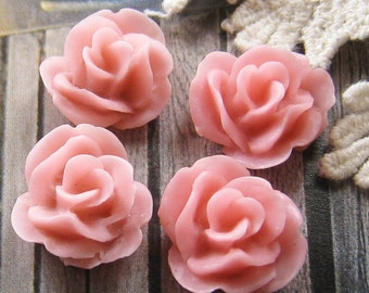 17mm - Lovely Rose cabochon - 4 pcs (CA837-C)