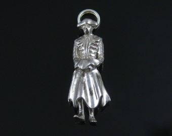 Vintage Sterling Silver 3D Spanish Matador Bull Fighter Charm