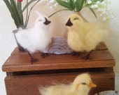 Spring chick needle felted sculpture