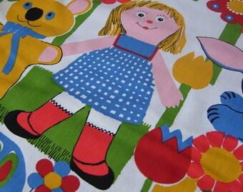 Vintage Child Canvas Cotton Fabric