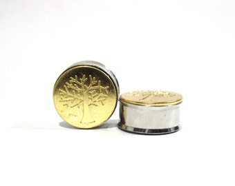 """Gold Fall Tree Plugs 1"""" 25mm LIMITED"""