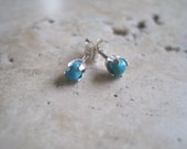 20 Percent off SALE  American Turquoise and Sterling Silver Stud Earrings