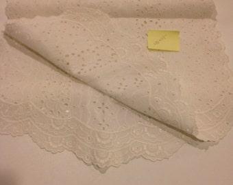 Sweet white dresser scarf