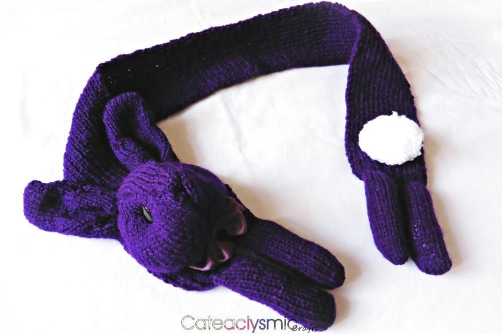 Purple Bunny Scarf