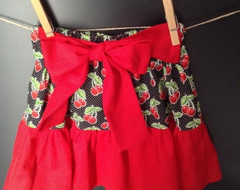 Toddler's Black and Red Ruffled Skirt in Size 2T
